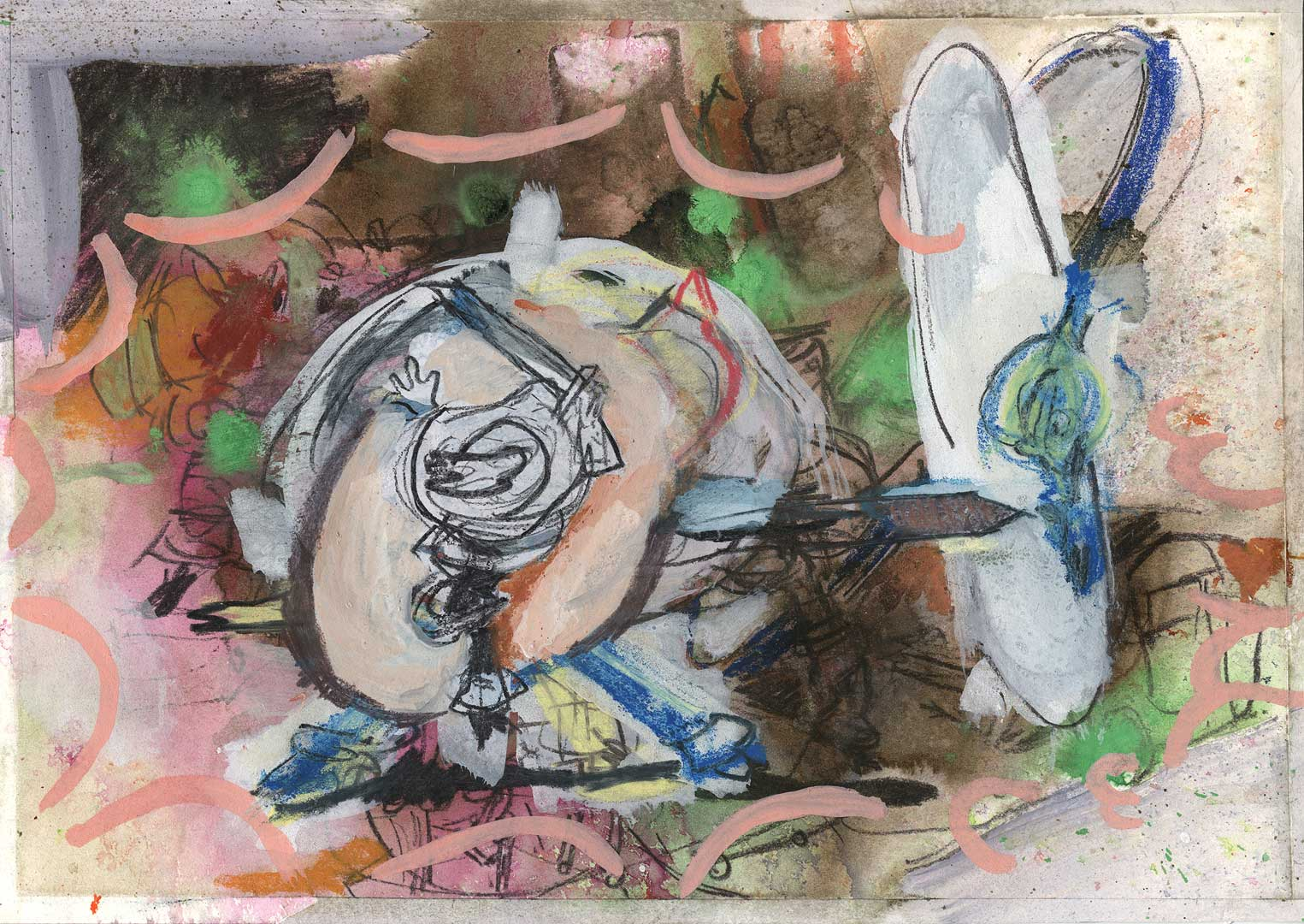 35TRK006M0001 [Silly Symphonies Series] – 21 x 29,7 cm – pastels, ink and acrylics on paper – 2019
