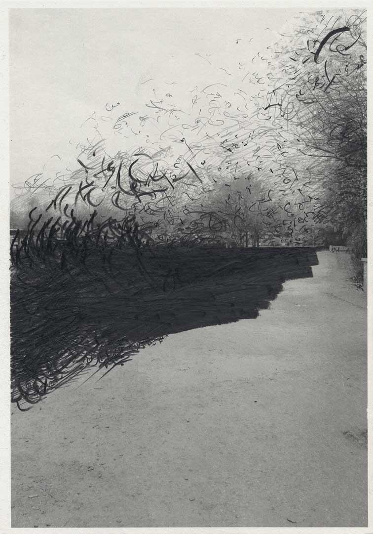 Untitled [Todesstreifen/ Schlesischer Busch] – 29,7 x 21 cm – Graphite drawing on photo-laserprint – 2015 – Inventory # 2015.P.FG.A4.V.0004