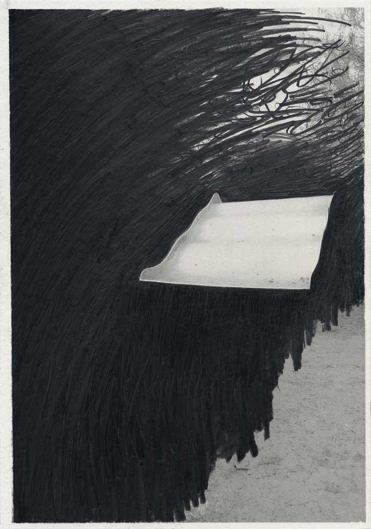 Untitled [Todesstreifen/ Schlesischer Busch] – 29,7 x 21 cm – Graphite drawing on photo-laserprint – 2015 – Inventory # 2015.P.FG.A4.V.0005