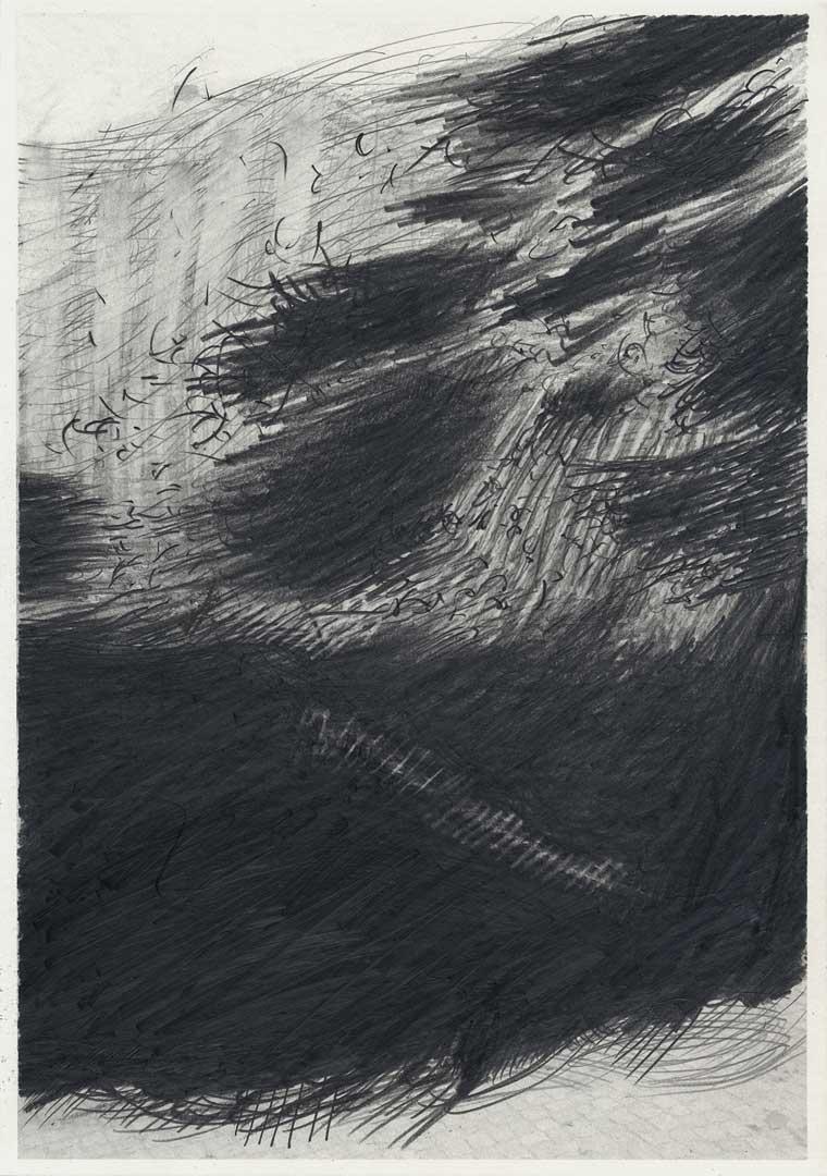 Untitled [Todesstreifen/ Schlesischer Busch] – 29,7 x 21 cm – Graphite drawing on photo-laserprint – 2015 – Inventory # 2015.P.FG.A4.V.0013