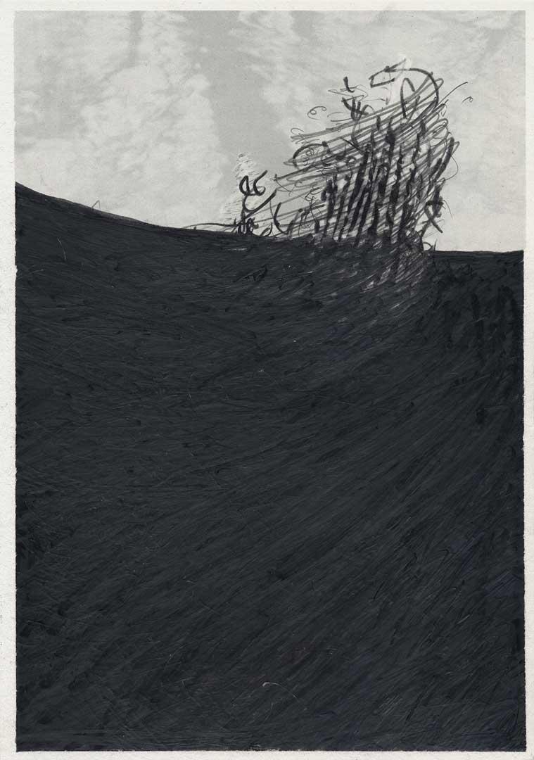 Untitled [Todesstreifen/ Schlesischer Busch] – 29,7 x 21 cm – Graphite drawing on photo-laserprint – 2015 – Inventory # 2015.P.FG.A4.V.0006